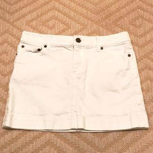NEW! Lilly Pulitzer white denim mini skirt